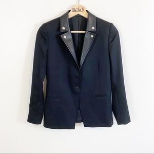 The Kooples Jackets & Coats - The Kooples Blazer With Leather Detailing